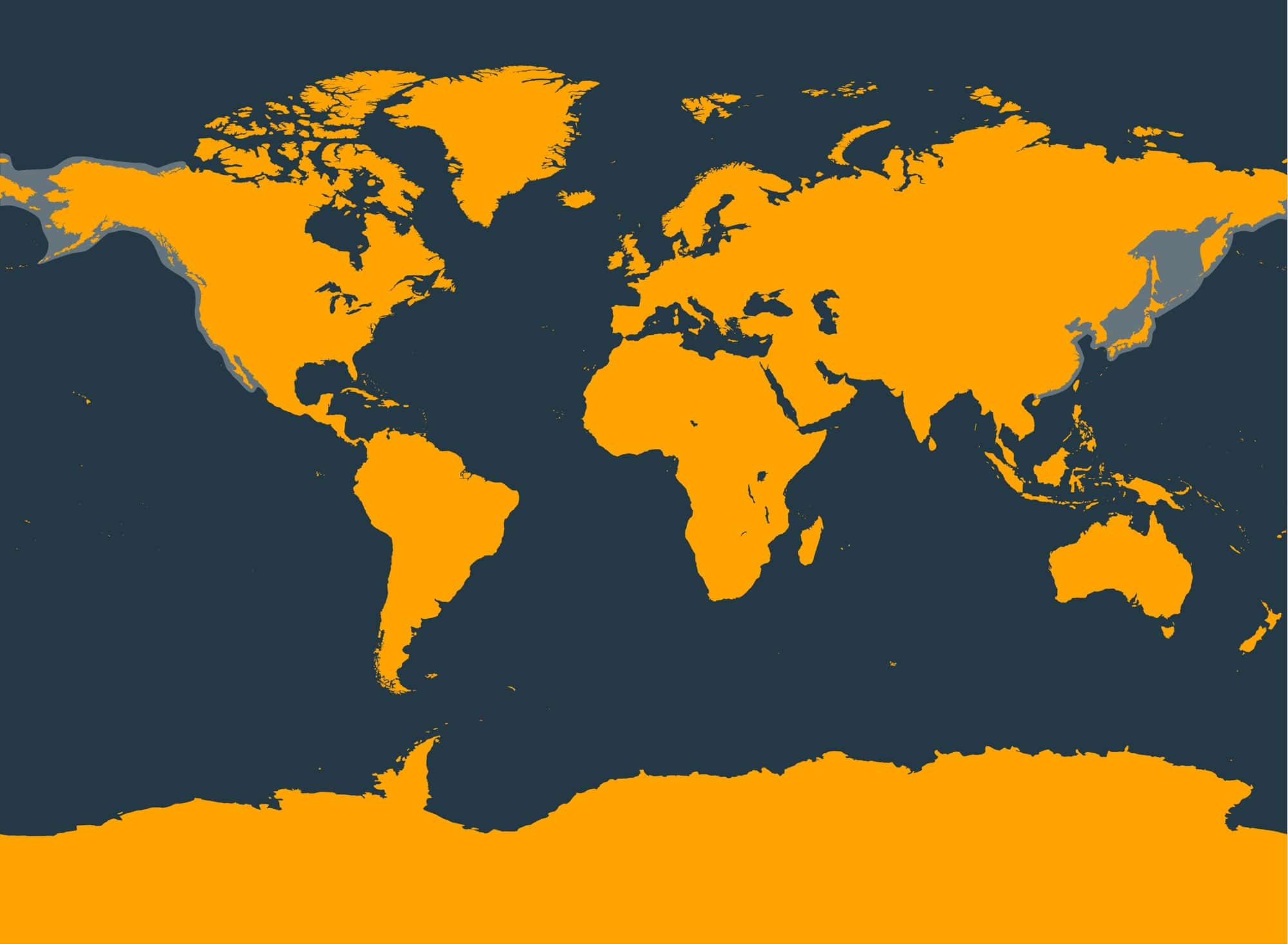 Gray whale distribution map