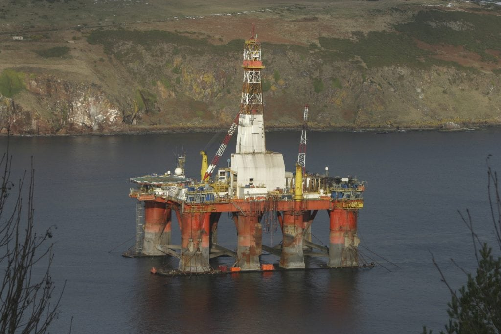 Drilling rig in Scotland