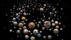 Footballs used to highlight plastic waste