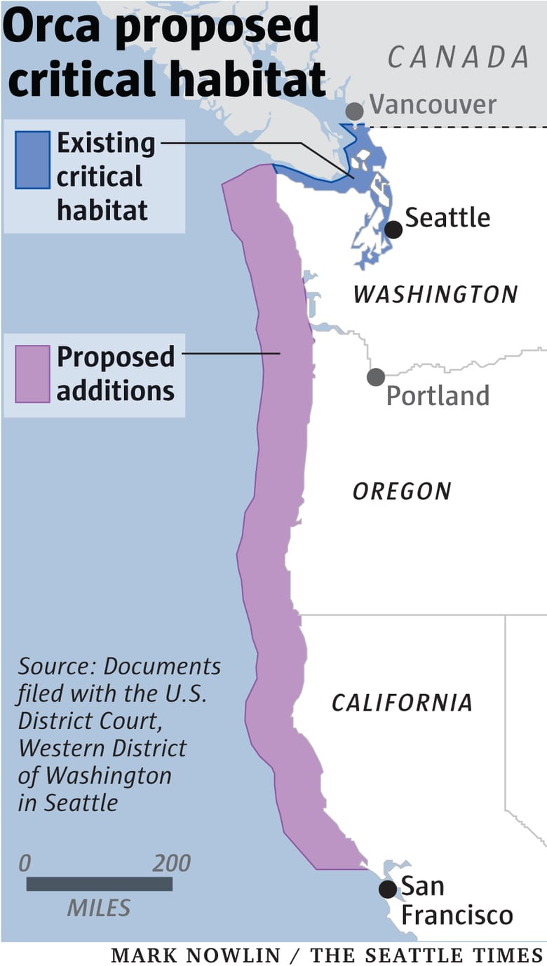 Proposed versus Actual Critical Habitat - Seattle Times