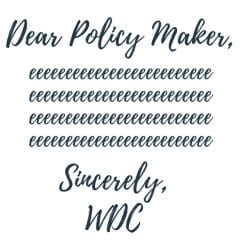 dear policy makers