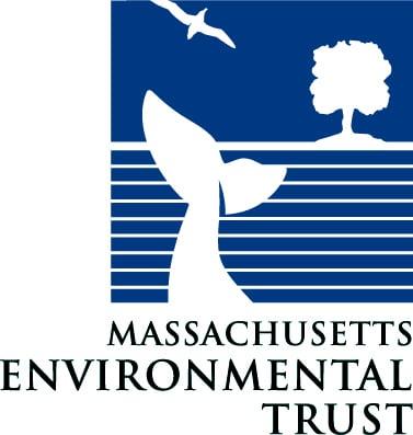 Massachusetts Environmantal Trust logo showing a whale fluke, tree and bird as Silhouette