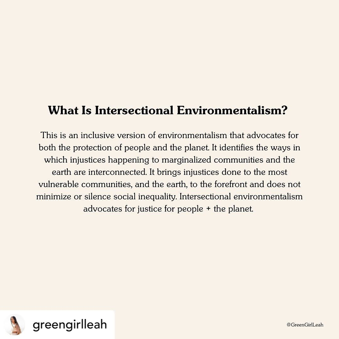 What is Intersectional Environmentalism