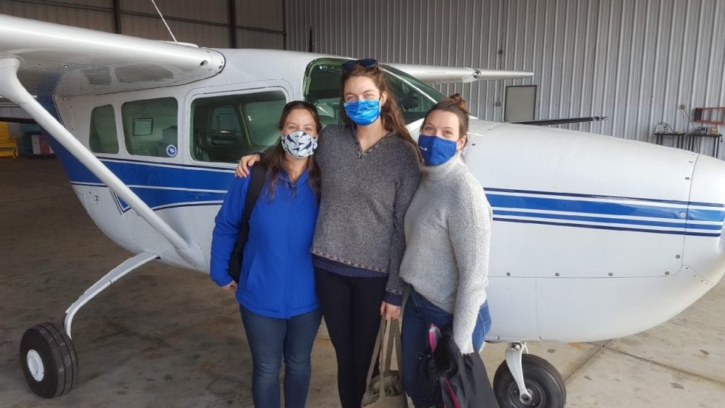 NC Team (pictured left to right) Kate McPherson, Cathryn Wood & Ashley Schrader.